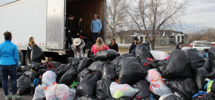 This is how we are going to collect 180,000 lbs of clothing